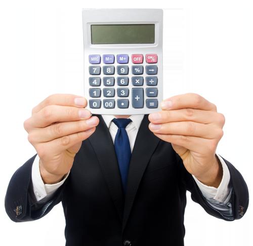 man-calculator